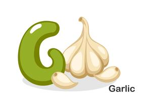 G voor knoflook