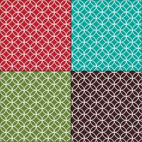 Moroccan interlocking circles tile patterns