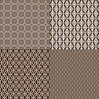 dark brown and white Moroccan patterns