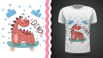 Dino sport skate - idea for print t-shirt