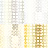 metallic silver and gold Moroccan geometric patterns