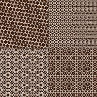 brown and white Moroccan patterns