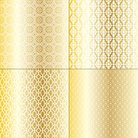 metallic gold and white Moroccan patterns