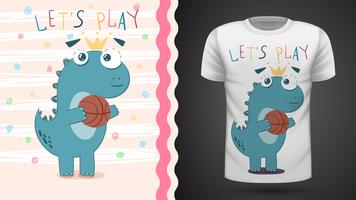 Dino play basket - idea per la t-shirt stampata