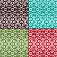 interlocking circles seamless geometric patterns