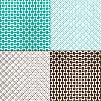turquoise blue and brown Moroccan geometric patterns