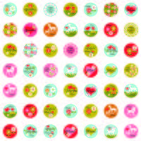 mothers day one inch circles vector graphics