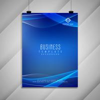 Abstract wavy business brochure stylish design