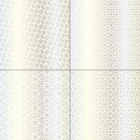 white and metallic silver Moroccan patterns
