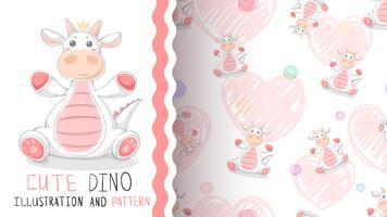Dinosaure joyeux anniversaire - modèle sans couture