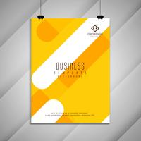 Abstract bright colorful business brochure template design