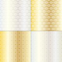 silver and gold Moroccan patterns