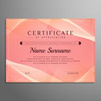 Abstract certificate background vector