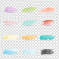 set of beautiful watercolor brush for modern banner, price tag, sticker and board