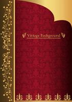 gold frame on dark vintage background vector