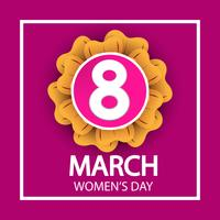 women's day, March 8 celebration sign on pink background vector