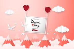 Creative valentines day sale background.