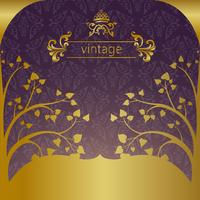 gold frame on dark vintage background vector