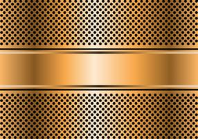 Abstract gold banner on hexagon mesh design luxury modern background vector illustration.