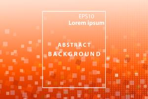 abstract geometric and square white and orange  cover and wallpaper background