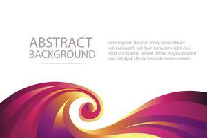 kleurrijke abstracte violet en oranje golf achtergrondbanner en behang