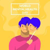 Cartaz de vetor de dia de saúde mental do mundo