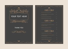 classic and vintage border and retro ornament frame style background vector