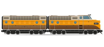 railway locomotive train vector illustration