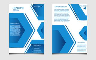 white and blue brochure layout, business flyer template in modern style