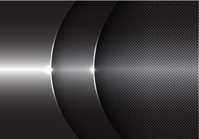 Illustrazione moderna di vettore del fondo di progettazione di sovrapposizione della curva grigia astratta di metallo.