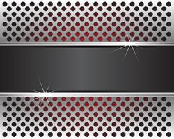 Abstract metal circles mesh background wallpaper in red light and gray label middle for text design vector illustration.