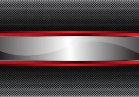 Silver red line banner on circle mesh design luxury modern background vector illustration.
