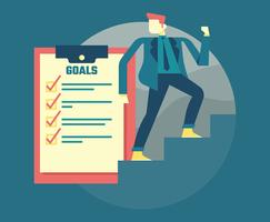 Corporate Goals Illustration vector