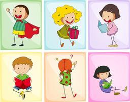 Crianças fazendo ações diferentes