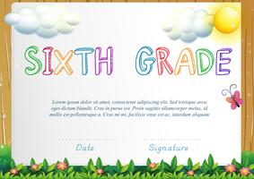 Certification for six grade