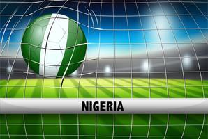 Bola de futebol da Nigéria no gol