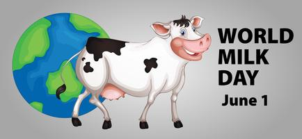 Poster design for World milk day