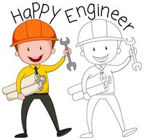 Doodle graphic of engineer