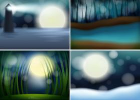 Set of nature blur background