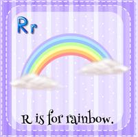 Flashcard of R is for rainbow