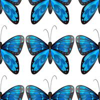 Blue butterfly seamless pattern