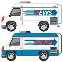 Set of news van