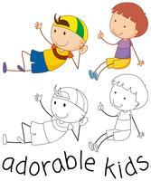 Set di ragazzo doodle