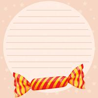 Line paper template with sweet candy