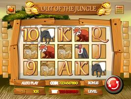 Game template with wild animals in jungle
