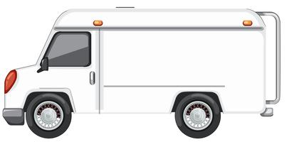 A white van on white background vector