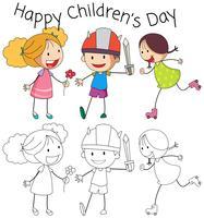 Doodle feliz dia das crianças