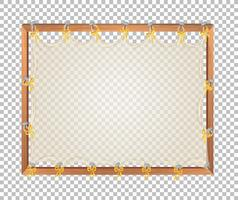 Transparent blank wooden board