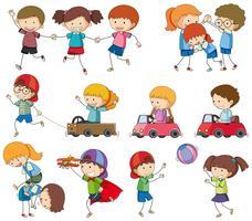 Set of kids playing