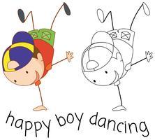 Dança de rua de menino Doodle